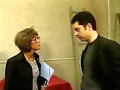 Francês amadurecer com óculos