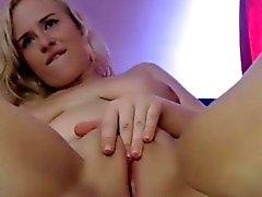 Russe Débarrasser blondasse godemichet sur le webcam
