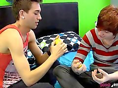 Twink Boys Share Their Toys and their affection