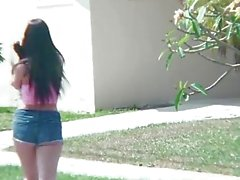 StrandedTeens - Teen loses her dog and finds a cock
