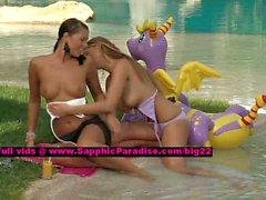 De Isabel y el Jaquelin lesbo las muchachas adolescentes nippling