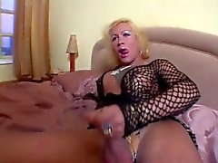 Mature trannies jerking off until they cum