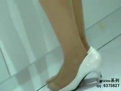 Candid Asian Nylon Pantyhose Feet & Legs Shoeplay Hostesses