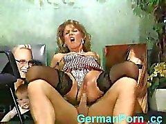 Empregado porra sexy Alemão patrão