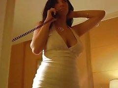 Jelena Jensen Fingers Pussy in Tight Dress!