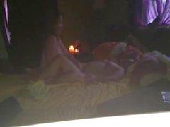 Lesbiennes réelles dans leur lit