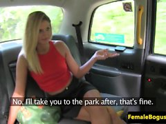 British cabbie goes down on babe outdoors