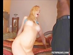 Cute blonde with fat white booty fucking