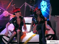 Jessica Jaymes & Daya Knight Halloween party, big dick, big booty