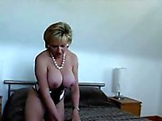 Unfaithful british milf lady sonia shows off her giant hoote