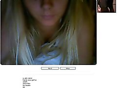 Chatroulette # 35 Mooi Blond take Orgasm