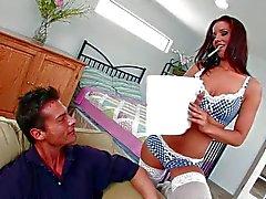 Czech beauty Angel Dark with sexy boobies