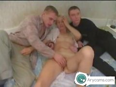 Russian mom with two young boys arycams