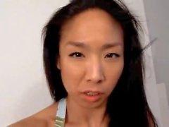 Marie Tomeoki Asian Babe Reviews Tiny Bikinis