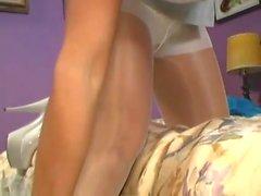 Donita Dunes white lingerie