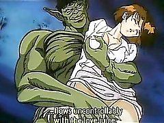 Horn gulliga Hentai princess att onanera twat cums hårt