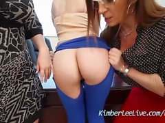 Teen Kimber Lee has Lesbian 3some with Sara Jay N Maggie