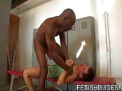 Gay stud wants muscle black dude's jock strap