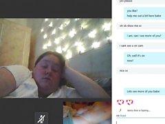 chubby girl makes me cum on skype - webcam sex