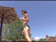 Sexy Thong Ass Latina Girls Beach Voyeur Spycam Video