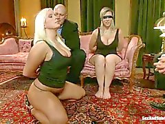 Curvy slaves Sara Jay and Kait Snow