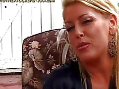 Blonde Milf Blows Gang Of Guys