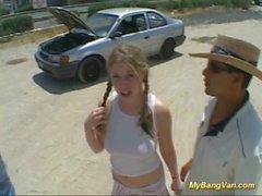 wild college girls bangvan orgy