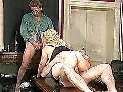Blonde BBW-Milf hard fucked from different Guys