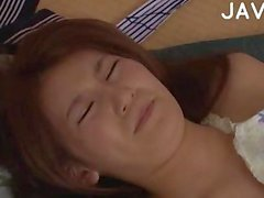 Small tits Japanese fingered & doggy fucked