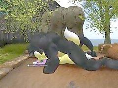 Hombre Lobo ataque renamon 3