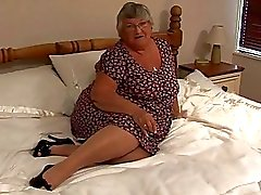 old amateur granny masturbate on...
