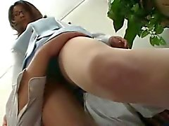 Asian Secretary Grope Touch Finger Upskirt Pantyhose