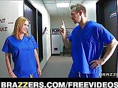 Horny hospital interns get caught fucking