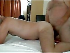 Hairy man bangs him hard till cumshot