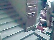 Porraskäytävä valvontakamera catpures vaimon vitun