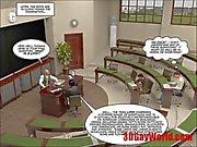 primera cogida gay vez en cómic del examen de dibujos animados 3D alegre animada