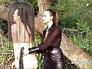 BDSM of lovely model enjoying all fetish things