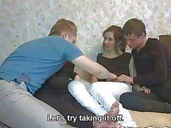 Genç Sex Parties Dört teens sıcak lanet zevk