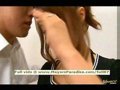 Mihiro smart Asian teen brunette gets licked