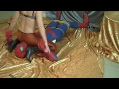Facesitting and Headscissor domination wich even Spiderman cannot resist