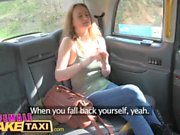 Female Fake Taxi Pretty blonde MMA babe gets pussy tribbing on taxi roof