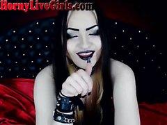 Hot Russian Goth Webcam Girl Naked