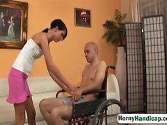 Olah Zsofia tekerlekli sandalyede bir amputee sikikleri
