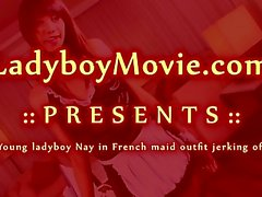 Fransızca Maid Kıyafet Ladyboy Hayır