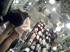 Nude Upskirt Calze nei magazzino d'avanguardia