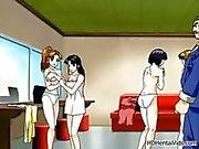 Sexig hentai babes få kåta med sina