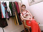 Beata teen undressing omklädningsrum