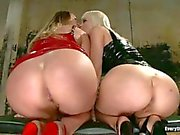 Big ass ladies Aurora Snow and Cherry Torn go crazy about Anal domination