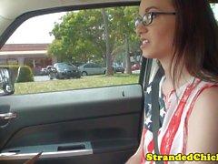 Stranded spex amador pregado na parte de trás do carro