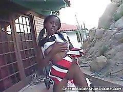 Teen Ebony Cheerleader Blowjob
